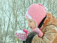 Free Girl And Snow Royalty Free Stock Photos - 27561498