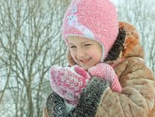 Free Girl And Snow Stock Image - 27561521