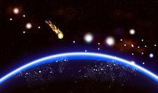 Big Blue Planet Background Stock Photo