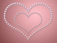Free Heart Shape Made From Pearls Royalty Free Stock Photography - 27566267