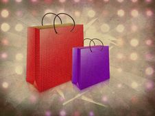 Free Two Gift Bags Stock Photography - 27566332