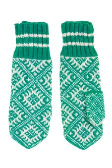 Knitted Mittens Royalty Free Stock Photography