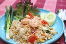 Free Shrimp Fried Rice Stock Image - 27566511