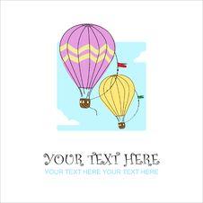 Free Hot Air Balloon. Royalty Free Stock Images - 27567019
