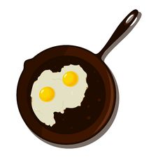 Fried Egg In A Frying Pan. Royalty Free Stock Photography