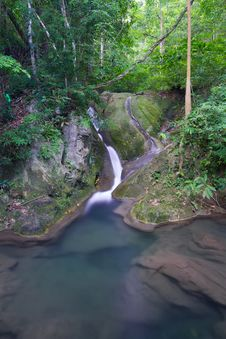 Free Deep Forest Waterfall  In Thailand Stock Photography - 27567652