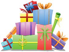 Free Pile Of Gift Boxes Stock Image - 27567861
