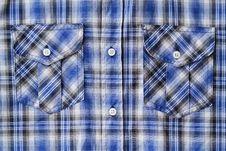Free Blue Tartan Plaid Pocket Royalty Free Stock Photography - 27568167