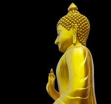 Free Isolate Golden Buddha. Royalty Free Stock Image - 27569676