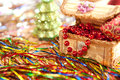 Free Christmas Candle And Beads - Preparation Stock Photo - 27571680