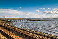 Free Railway Tracks And Pier Stock Photography - 27573562