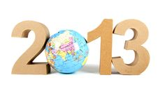 2013 In Paper 3D Numbers Stock Images