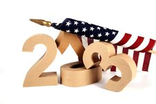2013 In Paper 3D Numbers With An American Flag Royalty Free Stock Image