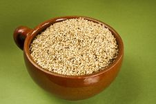 Free Sesame On Green Royalty Free Stock Image - 27579126