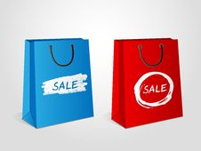 Free Shopping Bags Sale Royalty Free Stock Image - 27579586