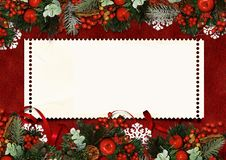 Free Vintage Christmas Greeting Card Royalty Free Stock Images - 27579719