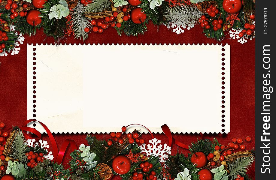 Christmas Card Images Free.Vintage Christmas Greeting Card Free Stock Images Photos