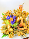 Free Thai Food, Grass Wig Fried With Shrimp Stock Photo - 27581610