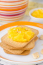 Free Biscuits With Orange Marmalade Closeup Royalty Free Stock Images - 27582569
