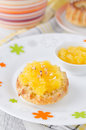 Free Bread With Orange Marmalade Royalty Free Stock Photography - 27582597