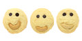 Free Set Of Smiling Cookies Isolated Royalty Free Stock Photo - 27582605