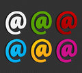 Free Colorful Email Labels Concept Stock Photography - 27586412