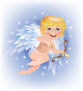 Free Cupid Shoots Gold Arrow Stock Photos - 27588793