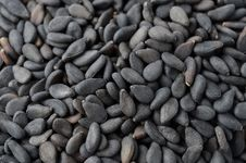 Black Sesame Seeds Close-up Stock Photography