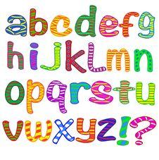 Alphabet. Letters. Stock Photos