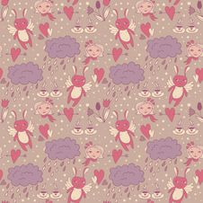 Free Delicate Pattern With Love Royalty Free Stock Photo - 27583725
