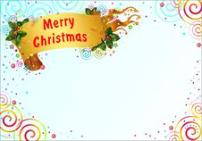 Free Christmas Greeting Card Royalty Free Stock Photos - 27584858