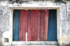 Old Zinc And Wood Background Royalty Free Stock Photo