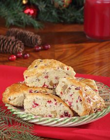 Free Holiday Cranberry Scones Stock Images - 27588014