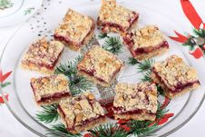 Free Cranberry Peanut Butter Bars Stock Photo - 27588100
