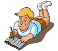 Free Boy Writing Stock Image - 27592171