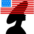 Free Black Silhouette Of  Young Beautiful Girl Royalty Free Stock Photography - 27593637