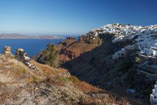 Free Santorini S Unique View At Sunrise. Greece. Stock Image - 27593081