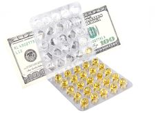 Free Money On Medicines Isolated Stock Photo - 27593370