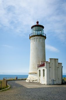 Free North Head Lighthouse On The Pacific Coast Royalty Free Stock Images - 27593839
