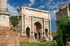 Free Antique Arch Of Emperor Septimius Severus Stock Photography - 27594592