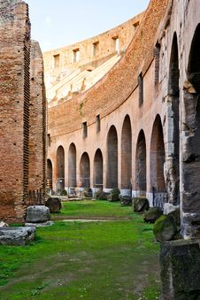 Free Inside The Colosseum In Rome Royalty Free Stock Photography - 27594937