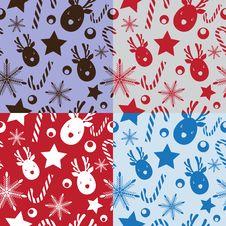 Free Christmas Seamless Pattern Stock Photo - 27595050
