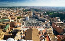 Free View Of Rome And St Peter S Square Royalty Free Stock Photo - 27595275