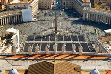 View Of St Peter S Square From Dome Of St. Peter B Stock Image