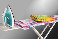Ironing Board. Isolated Stock Photography