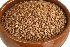 Buckwheat In Ceramic Bowl Stock Photography