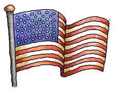 Free American Flag Royalty Free Stock Photo - 27598435