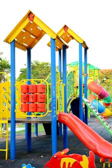 Free Children Playground. Stock Photo - 27599810