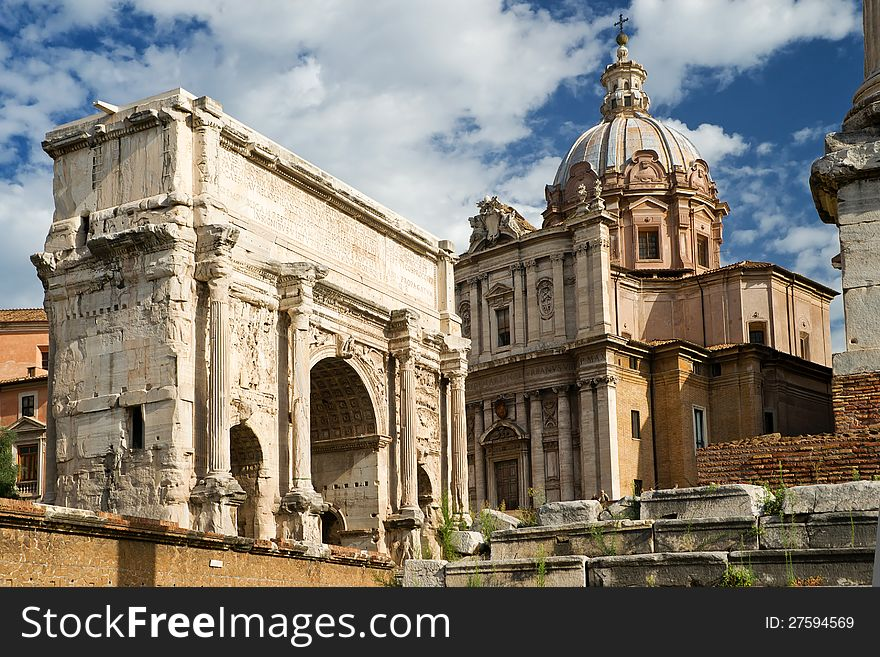 Arch of Septimius Severus, Rome