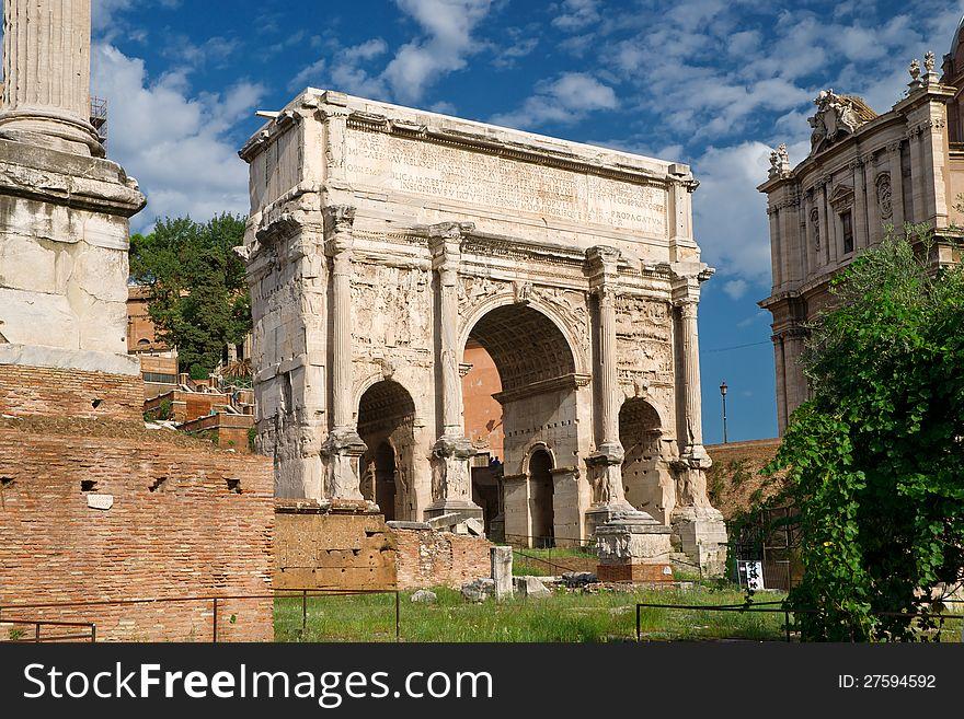 Antique Arch of Emperor Septimius Severus